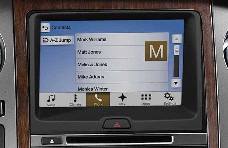 Ford Expedition infotainment system