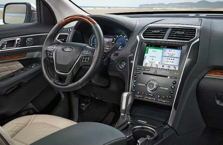 Ford Explorer front interior dashboard