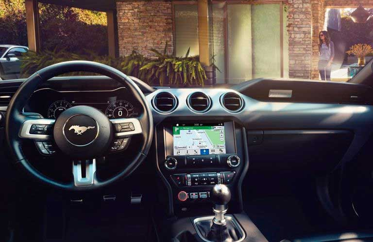 Ford Mustang interior dashboard and steering wheel