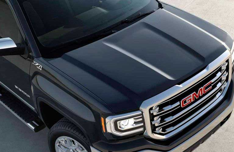Overhead view of the 2017 GMC Sierra 1500 hood