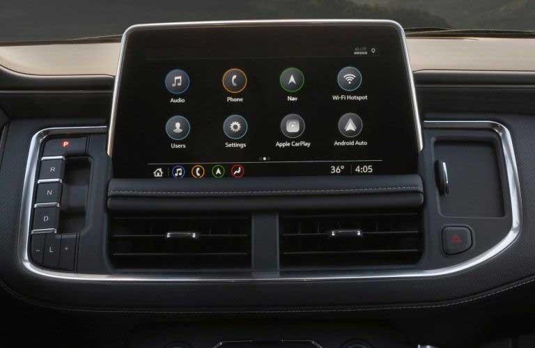 Touchscreen display inside the 2020 GMC Yukon