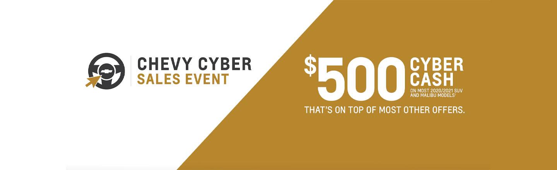 Chevy $500 Cyber Cash | Maxie Price Chevrolet