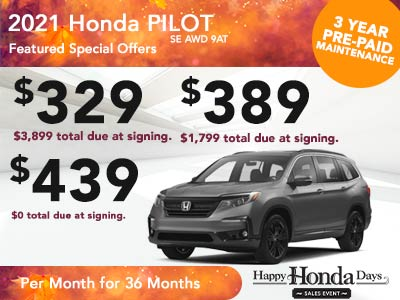 2021 Honda Pilot SE AWD 9AT