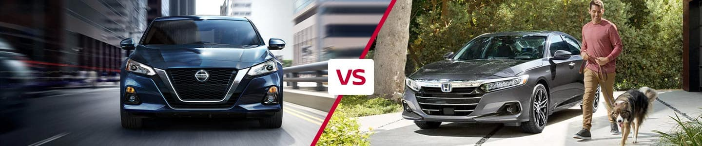 Comparing the 2021 Nissan Altima and 2021 Honda Accord in Metairie, LA