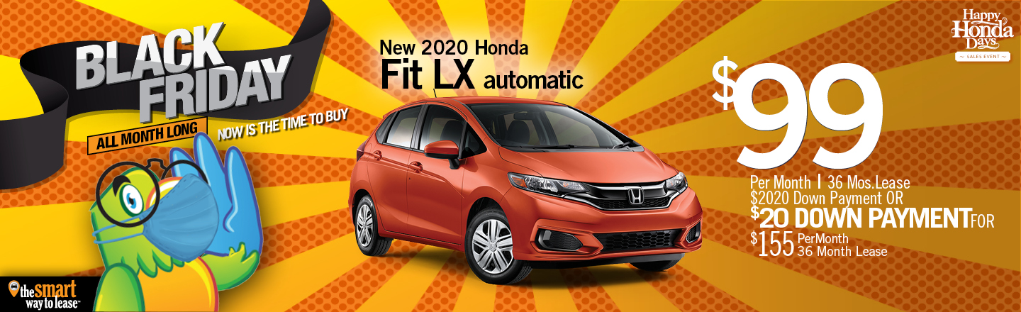 Black Friday Special 2020 Honda Fit LX