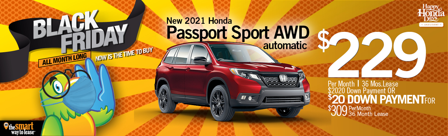 Black Friday Special 2021 Honda Passport Sport AWD