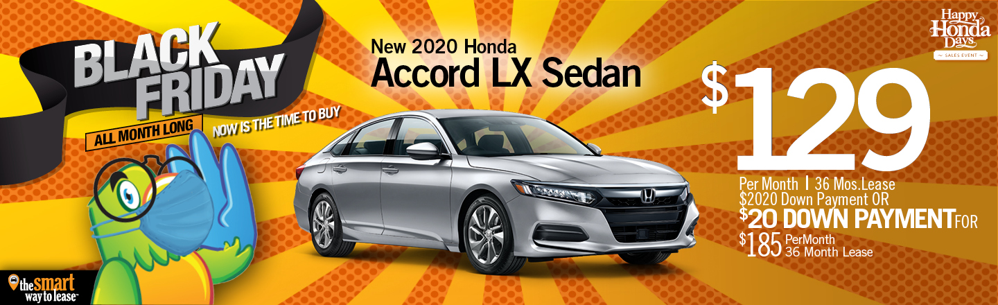 Black Friday Special 2020 Accord LX Sedan Auto