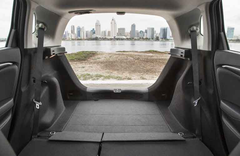 Interior cargo volume of the 2017 Honda Fit with the seats folded down