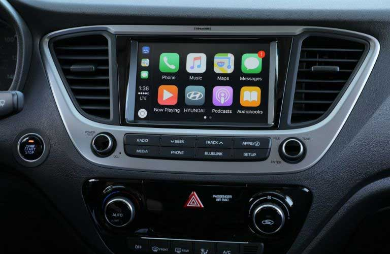 Hyundai Accent infotainment system