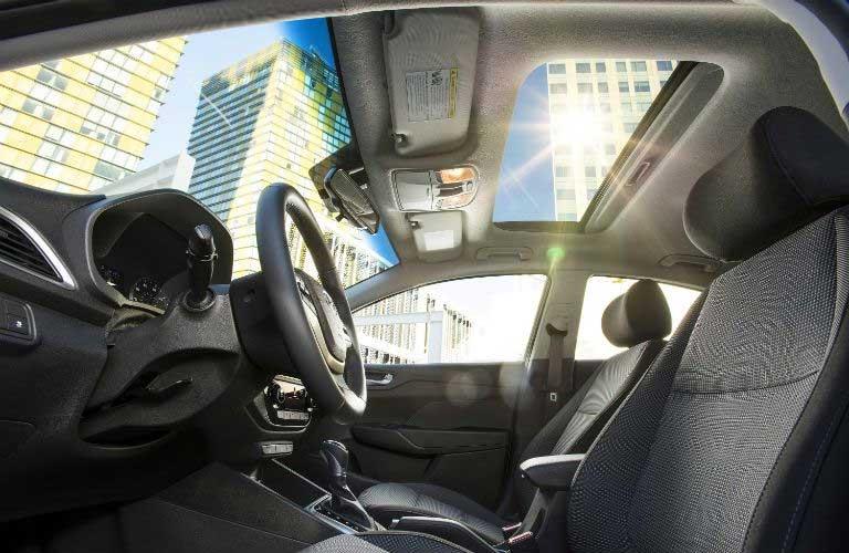Hyundai Accent front passenger seats
