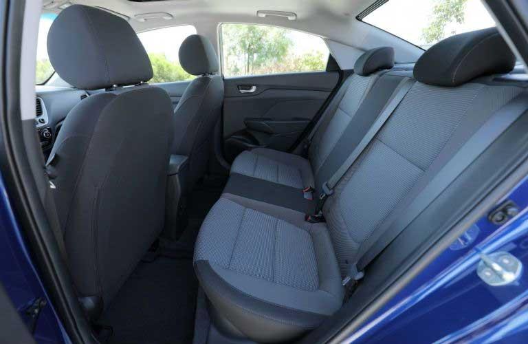 Hyundai Accent rear passenger seats