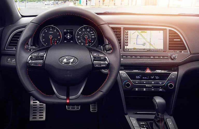 Used Hyundai Elantra steering wheel and dashboard