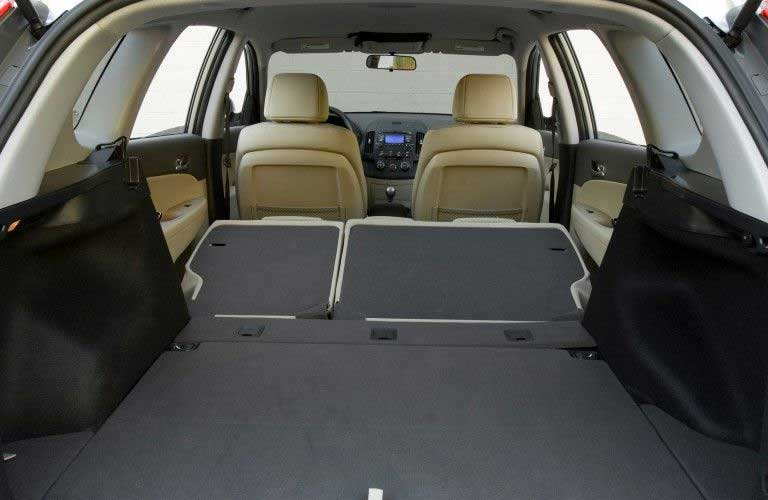 Cargo space with the rear seats folded in the 2009 Hyundai Elantra Touring
