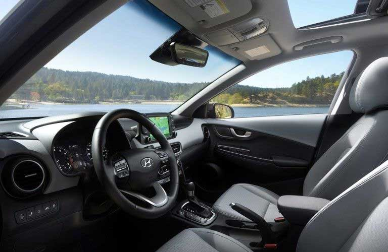 Front seats in the 2020 Hyundai Kona