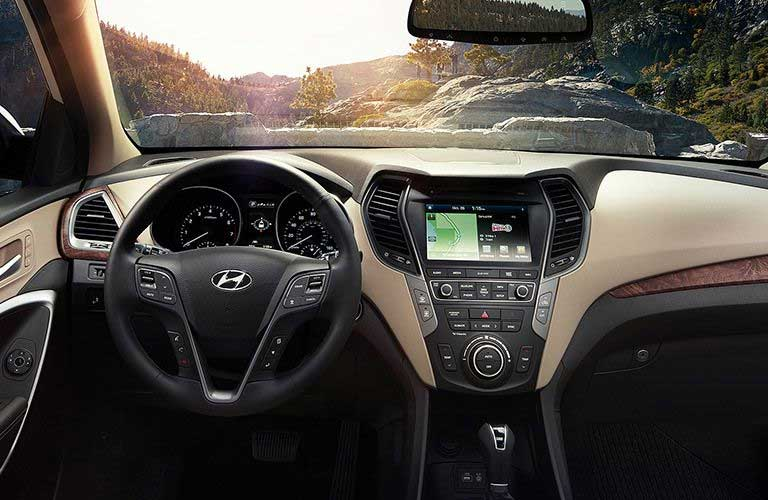 Hyundai Santa Fe front dashboard