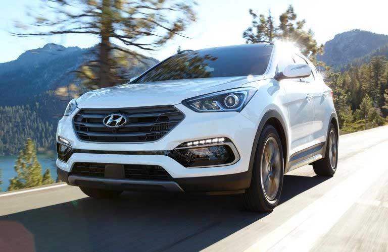 2018 Hyundai Santa Fe Sport driving on highway