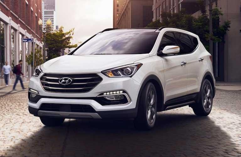 2018 Hyundai Santa Fe Sport parked in street