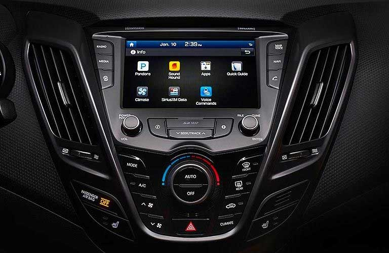 Hyundai Veloster touchscreen display