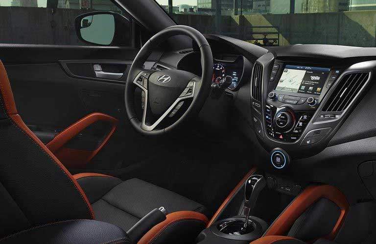Hyundai Veloster dashboard and steering wheel