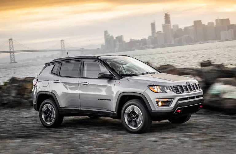 Jeep Compass parked showing side profile
