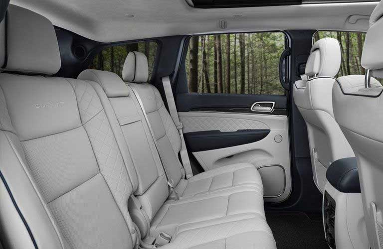 Jeep Grand Cherokee rear passenger seating area