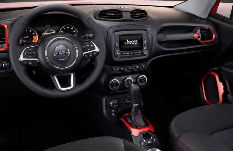 Used Jeep Renegade interior dashboard features