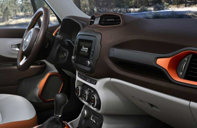 Used Jeep Renegade front interior
