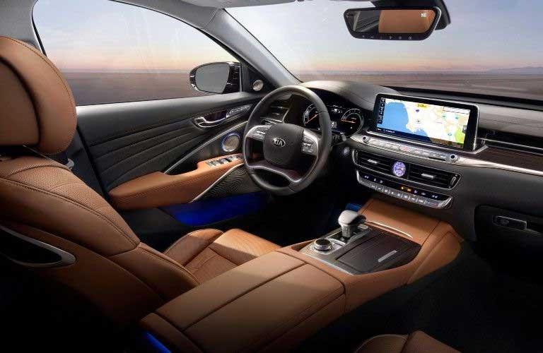 Front interior in the 2020 Kia K900
