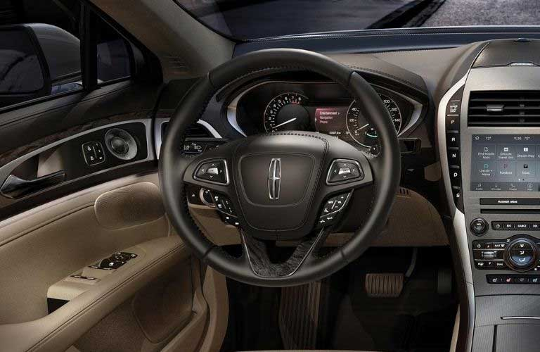 2020 Lincoln MKZ steering wheel and touchscreen