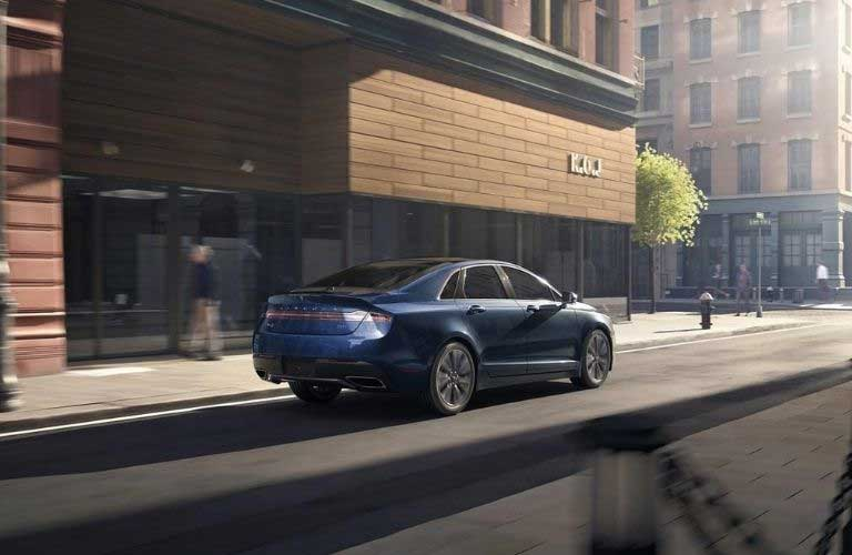 2020 Lincoln MKZ driving away in the city