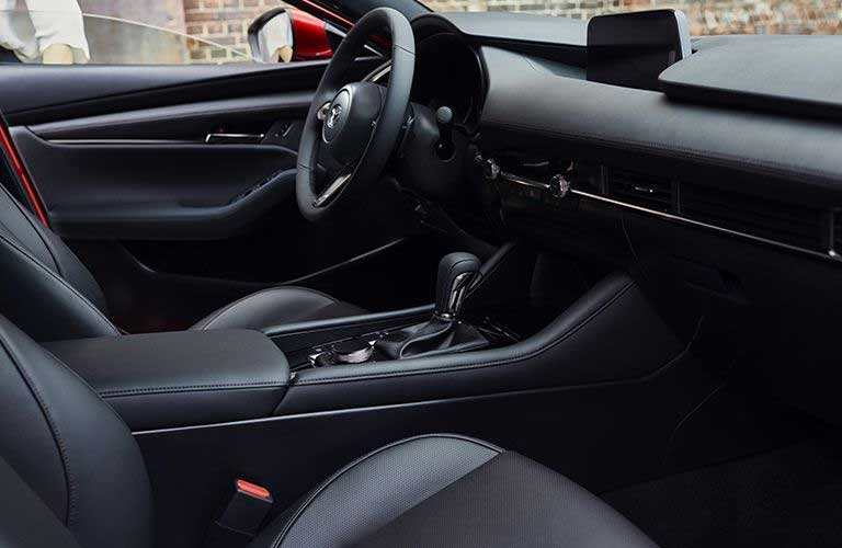 Mazda3 front seats and steering wheel