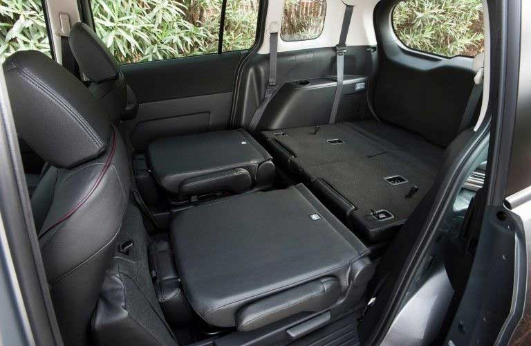 Interior of the 2015 Mazda5 with the rear seats down