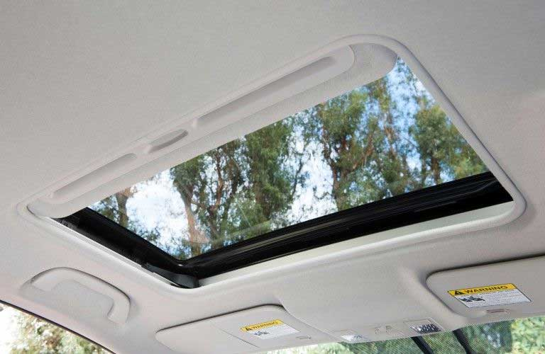 Close up of the sunroof in the 2015 Mazda5