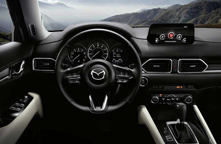 Mazda CX-5 dashboard and steering wheel