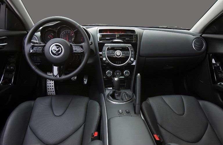 Front interior in the 2009 Mazda RX-8