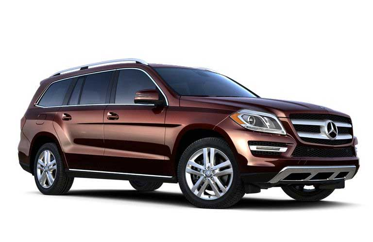 Mercedes-Benz GL-Class front and side profile