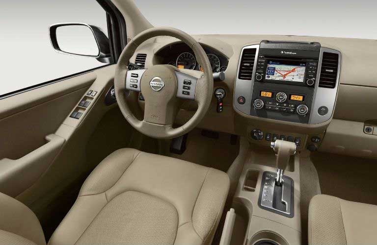 Nissan Frontier dashboard and steering wheel