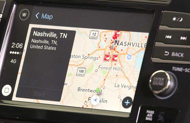 Nissan Maxima 8-inch touchscreen display