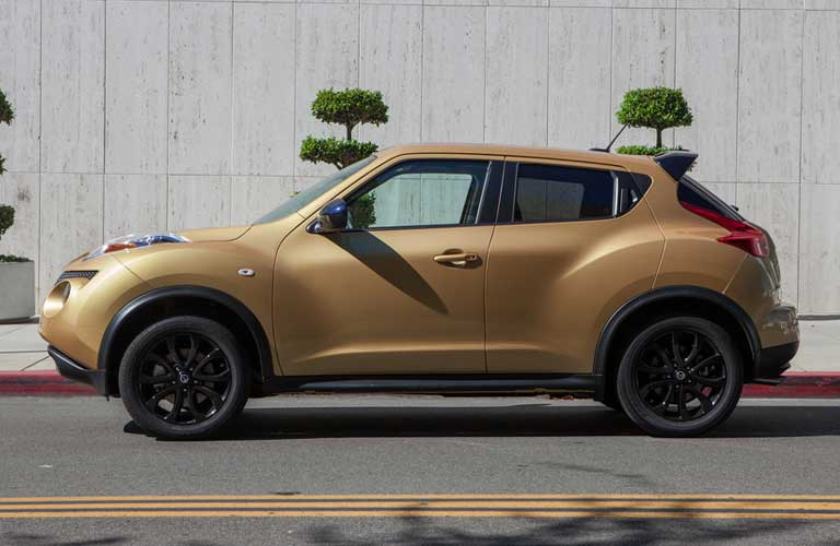 Nissan JUKE parked showing front and side profile