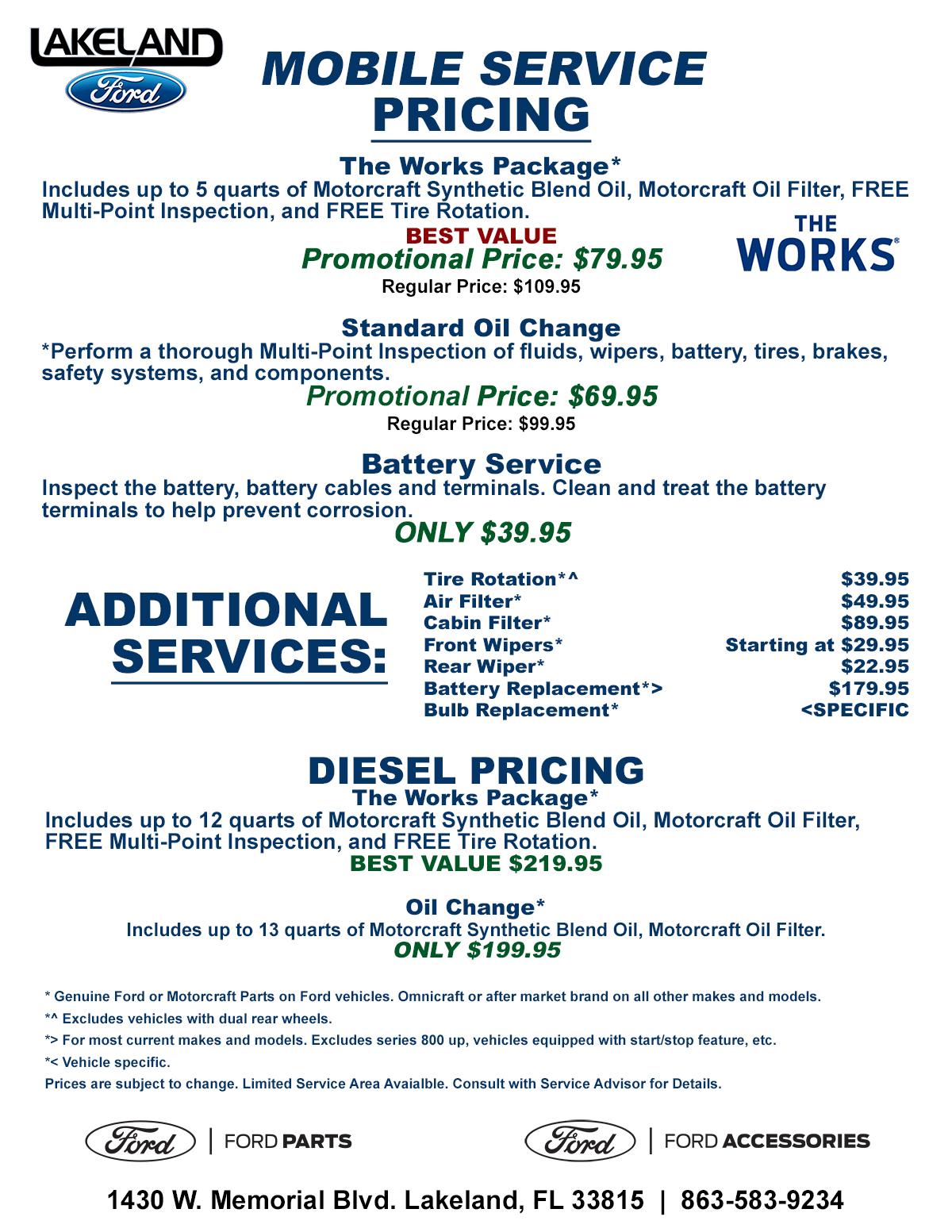 Mobile Service Pricing