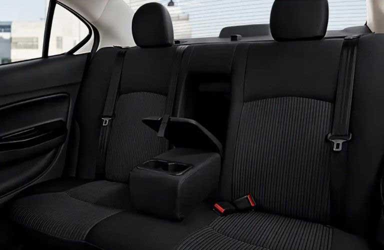 Rear seats in the 2019 Mitsubishi Mirage G4