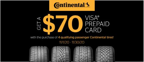 Continental Tires - $70 Rebate