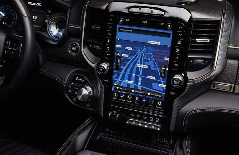 Ram 1500 touchscreen display