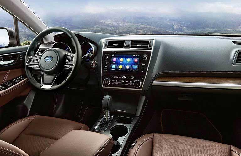 Front row interior inside the 2019 Subaru Outback
