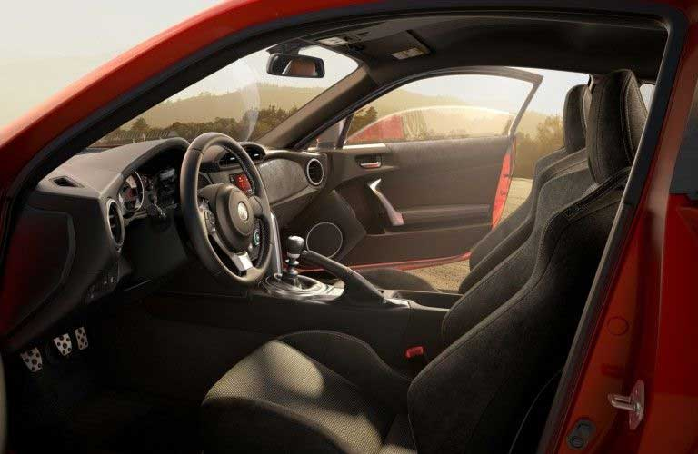 Front row inside the 2020 Toyota 86