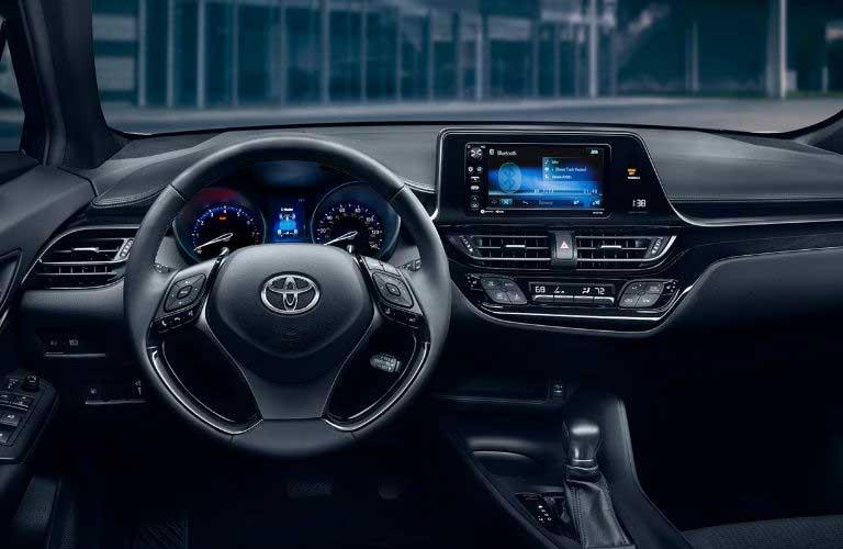 Toyota C-HR dashboard and steering wheel