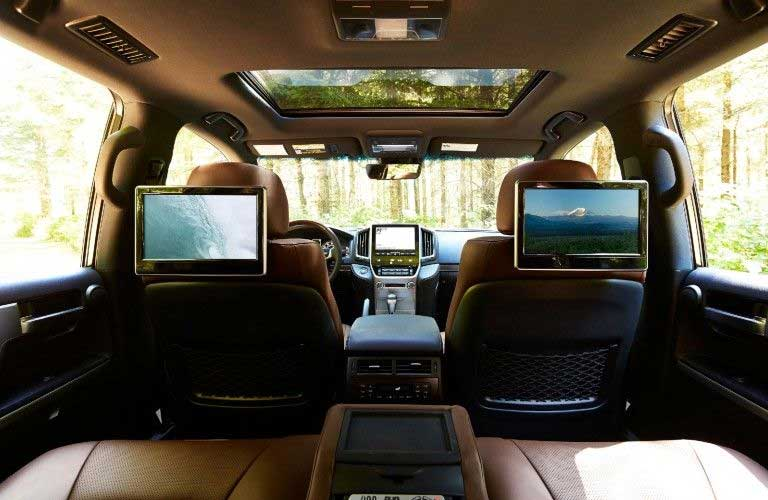 Rear-seat DVD entertainment system in the 2021 Toyota Land Cruiser
