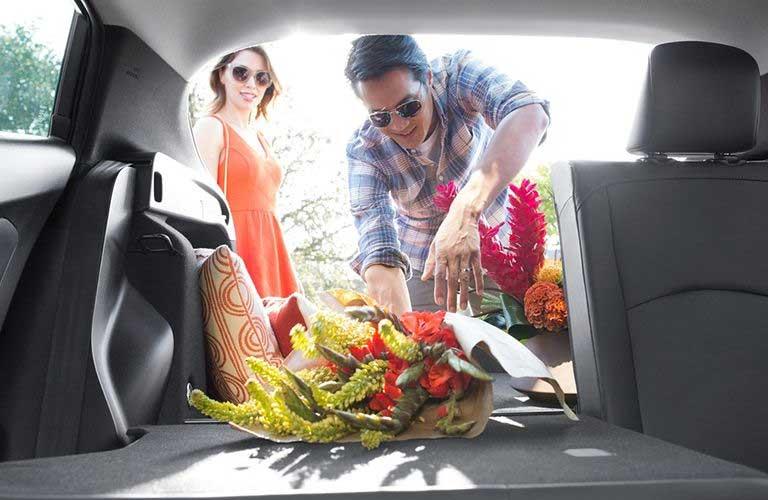 Toyota Prius rear cargo area