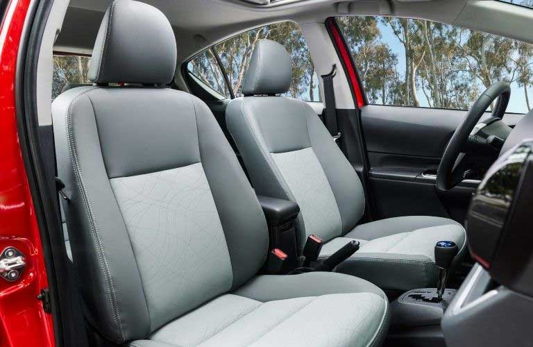 Front seats in the 2016 Toyota Prius c