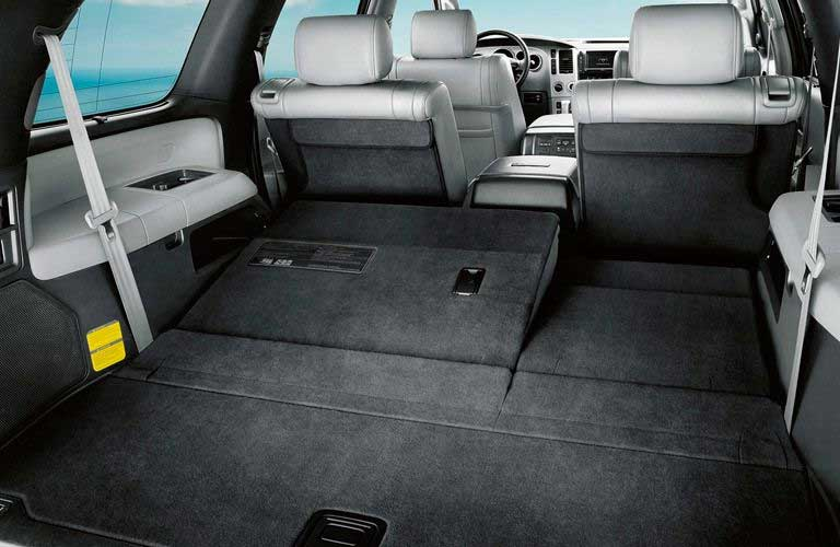 Cargo area of a Toyota Sequoia